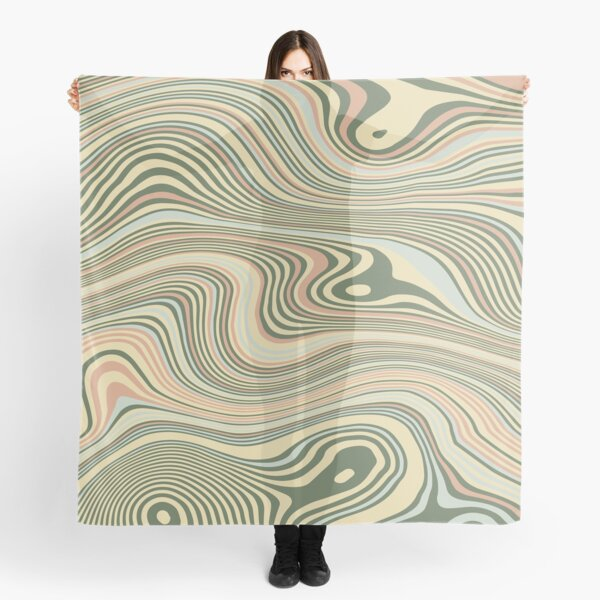 Groovy Abstract Swirl Pattern Scarf