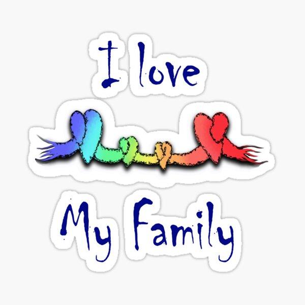 Amo mi familia Pegatina