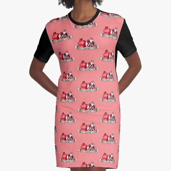 Fruits of the Spirit—Pomegranate—Love Graphic T-Shirt Dress