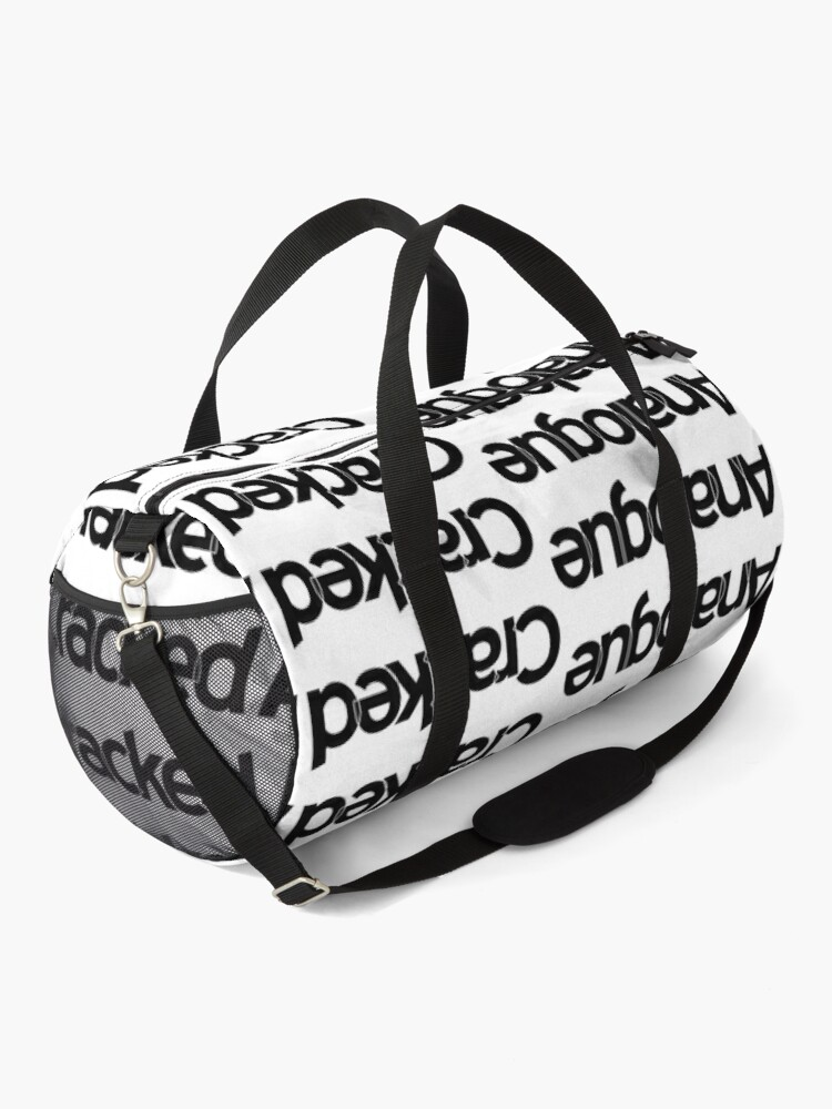 Alternate view of Cracked Analogue (Black Version) Duffle Bag