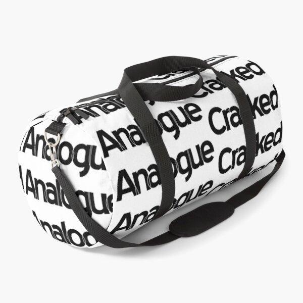 Cracked Analogue (Black Version) Duffle Bag