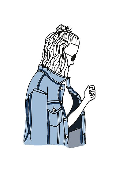 Denim Jacket Fashion Illustration Posters By Angelica De Jong