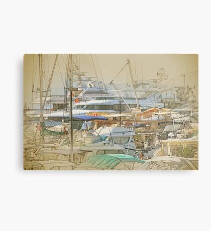 Boat harbour  Metal Print