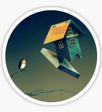 Flying Bird...house Sticker