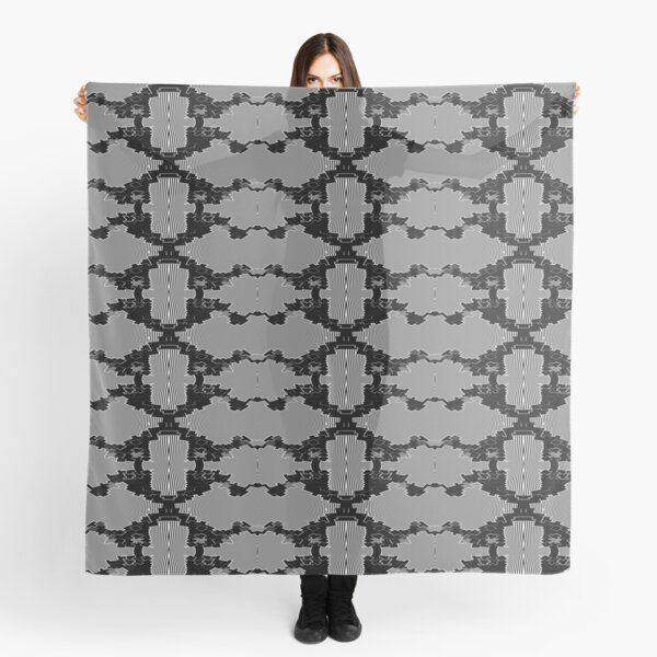 Mirrored Black and White Vipers Scarf