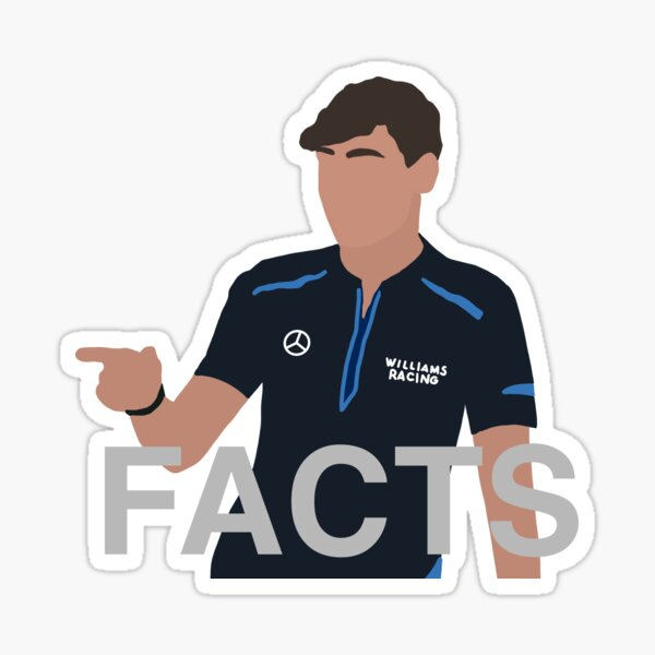 George Russel Facts Sticker