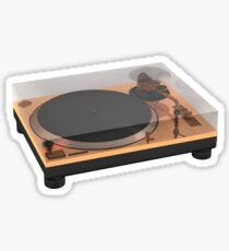 Golden Turntable Sticker