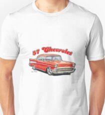 1957 Chevrolet Bel Air Design Slim Fit T-Shirt