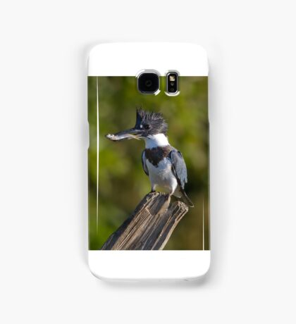 Fish on! - Belted Kingfisher Samsung Galaxy Case/Skin
