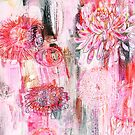 Chrysanthemum abstract style painting by Carolynne
