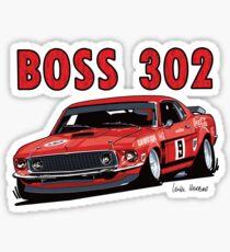 Ford 302 Boss Mustang Design Sticker