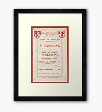 SHELBOURNE VS BARCELONA - PROGRAMME COVER  Framed Print