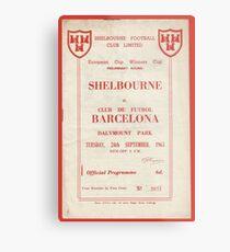 SHELBOURNE VS BARCELONA - PROGRAMME COVER  Metal Print