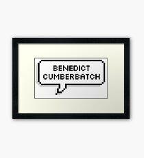 Benedict Cumberbatch Framed Print