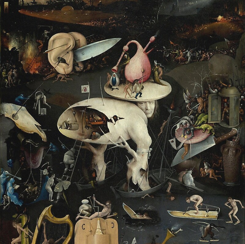 garden of earthly delights poster. Hieronymus Bosch - The Garden Of Earthly Delights Art Fragment Painting: Eden, Hell, Poster B