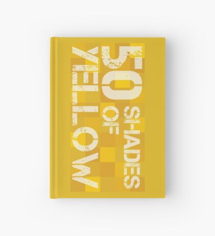 50 Shades of Yellow Hardcover Journal