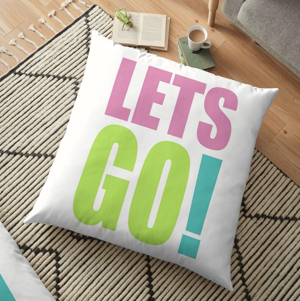 Lets GO! Floor Pillow