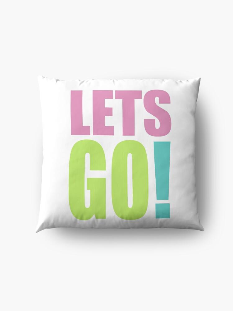 Alternate view of Lets GO! Floor Pillow