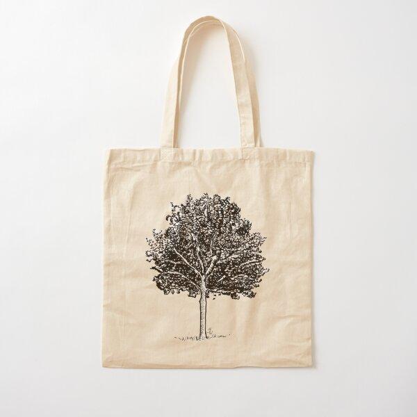 Linde Baum Tusche Zeichnung Aquarell  Baumwolltasche