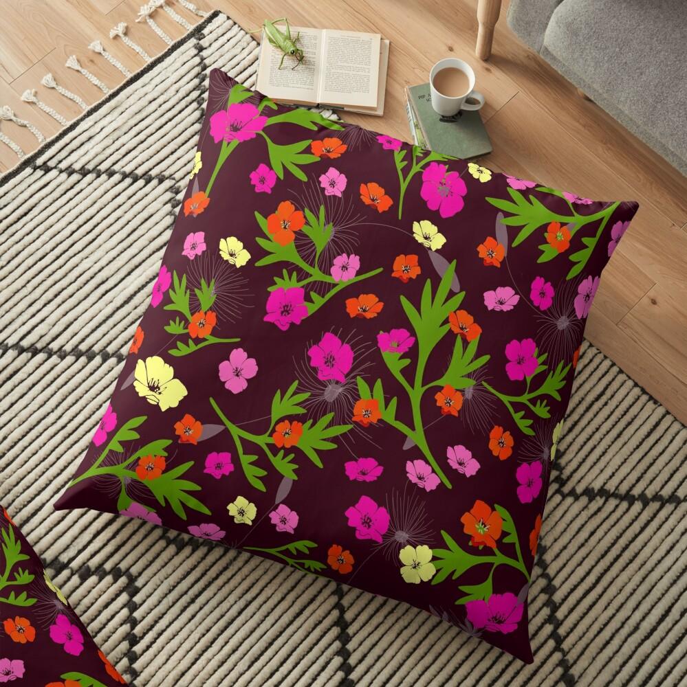 Wild Garden Floor Pillow