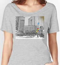 Sunny Day Cityscape Streetscape Women's Relaxed Fit T-Shirt