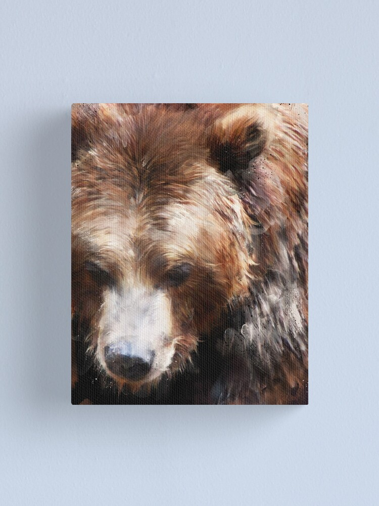 Alternate view of Bear // Gold Canvas Print
