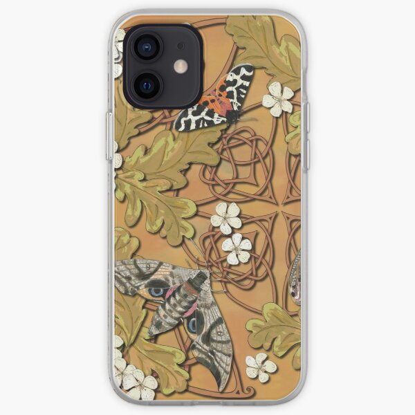 Celtic Moths with Leaves and Flowers iPhone Soft Case