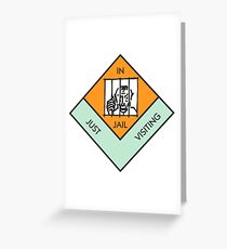 MONOPOLY BOARD GAME JAIL Greeting Card
