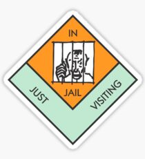 MONOPOLY BOARD GAME JAIL Sticker