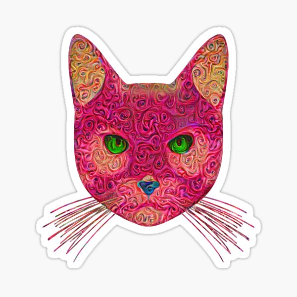 Rose Hungry Cat Sticker