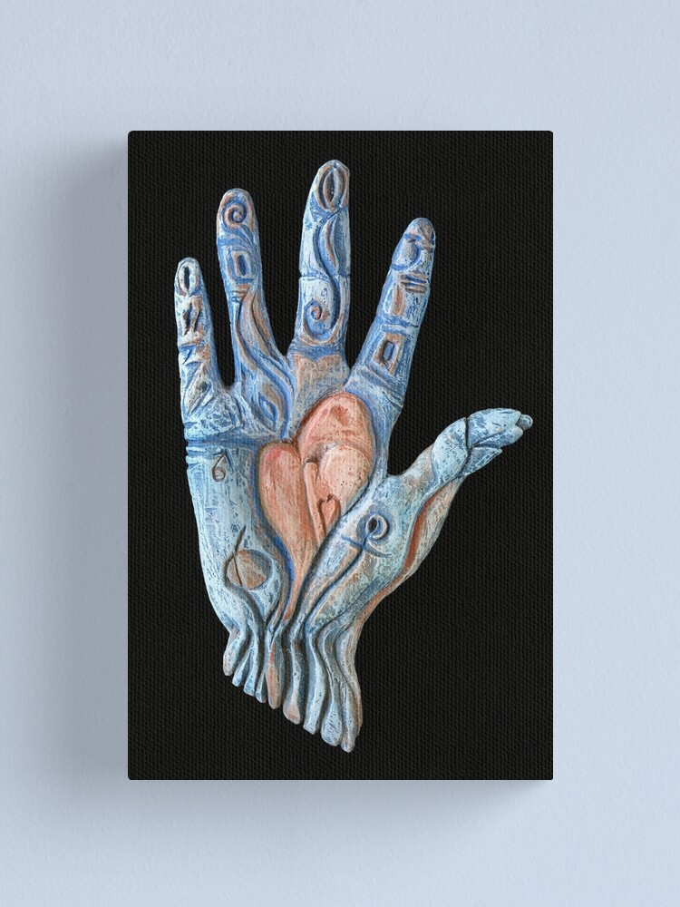 Alternate view of Hand Heart Canvas Print