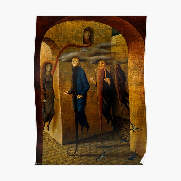 Hairy Locomotion, by Remedios Varo Poster
