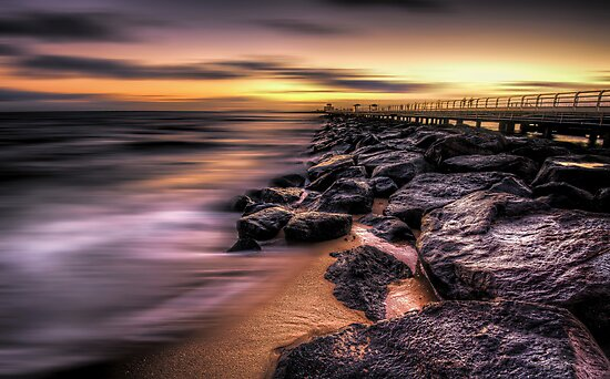 St Kilda pier at sunset by mellosphoto
