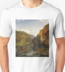 Thomas Moran - Autumn Afternoon, The Wissahickon. Forest view: forest , trees,  fauna, nature, birds, animals, flora, flowers, plants, field, weekend Unisex T-Shirt