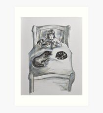 Childrens -with dog, cat and toys Art Print