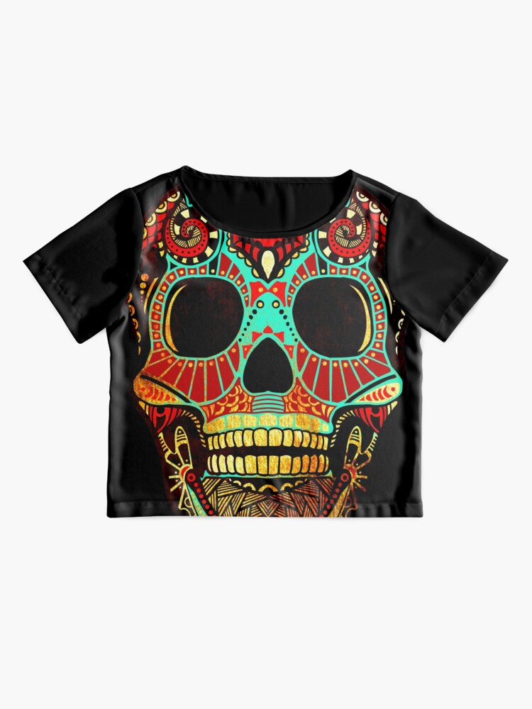 Alternate view of Grunge Skull No.2 Chiffon Top