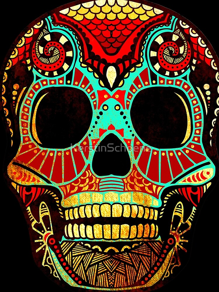 Grunge Skull No.2 by KerstinSchoene