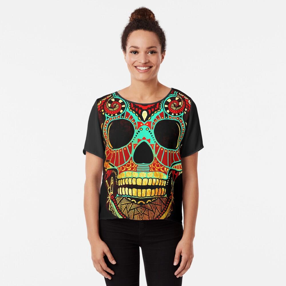 Grunge Skull No.2 Chiffon Top