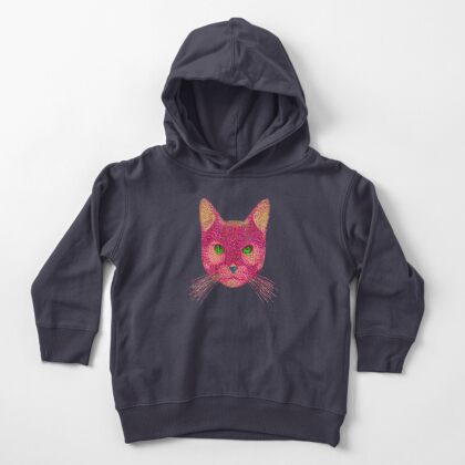 Rose Hungry Cat Toddler Pullover Hoodie