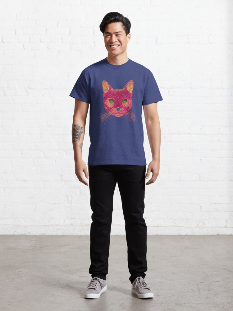 Alternate view of Rose Hungry Cat Classic T-Shirt