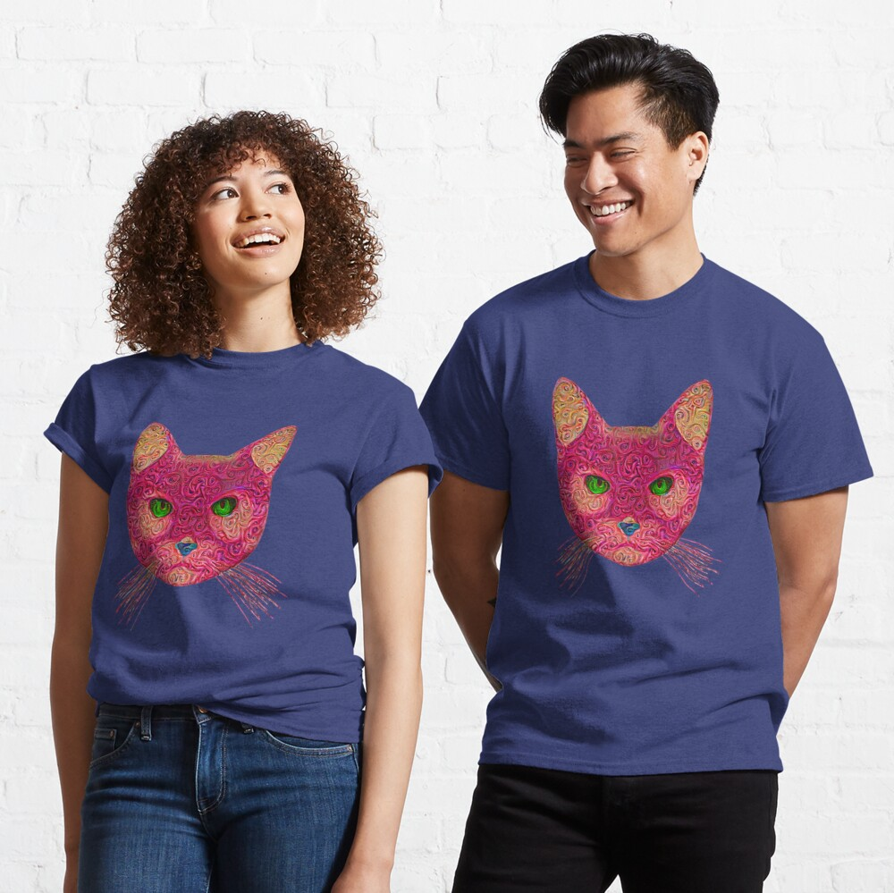 Rose Hungry Cat Classic T-Shirt