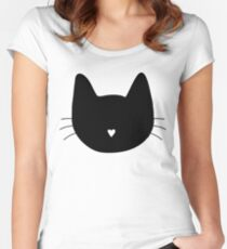 Cat Heart Nose Women's Fitted Scoop T-Shirt