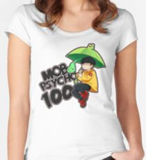 Mob Psycho 100 - Umbrella Frog Women's Fitted Scoop T-Shirt