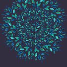 Blau verlässt Mandala von elenor27