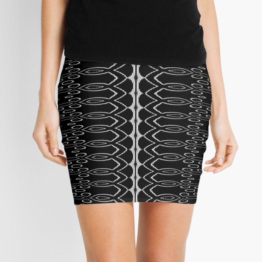LaFara Royal Crochet Mini Skirt