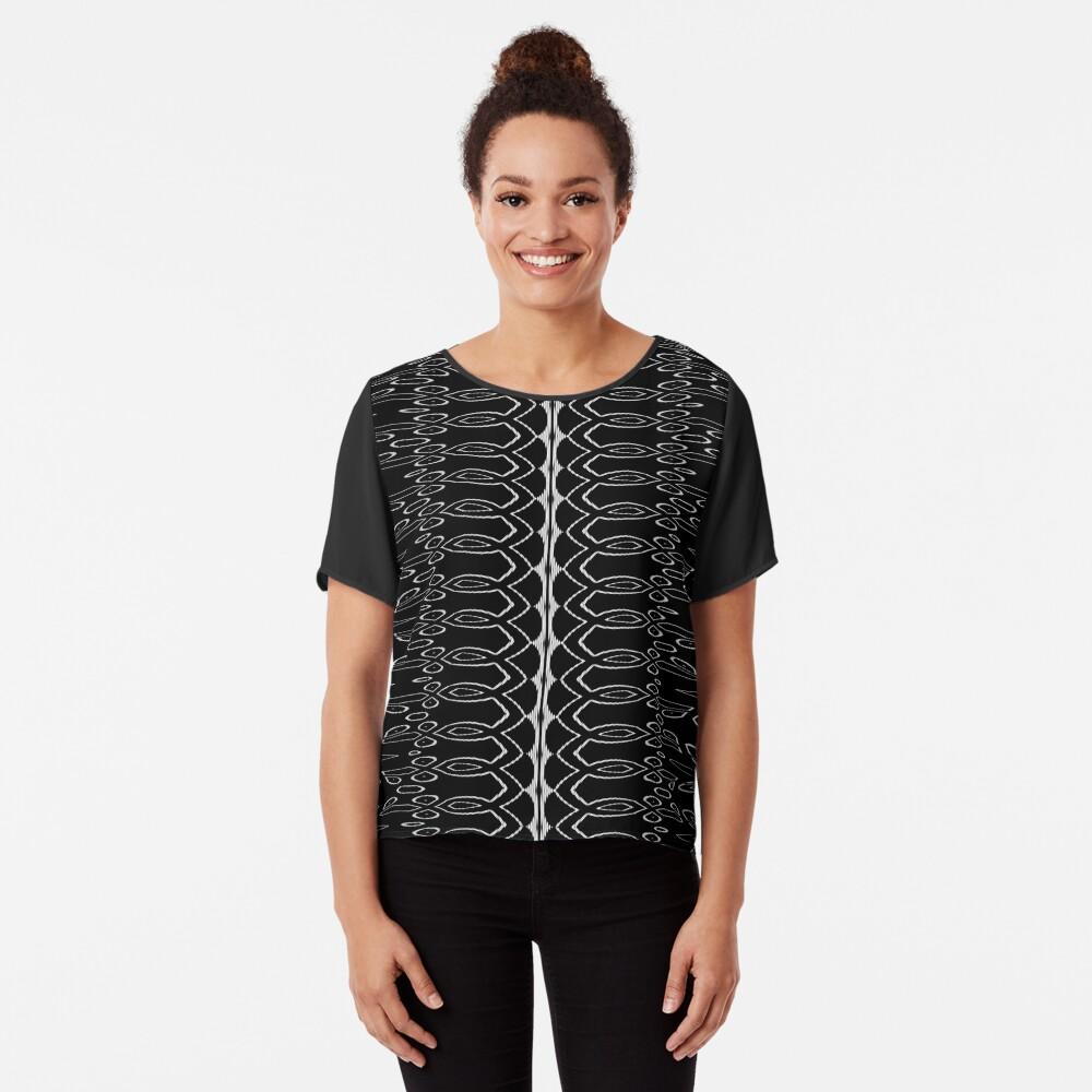 LaFara Royal Crochet Chiffon Top