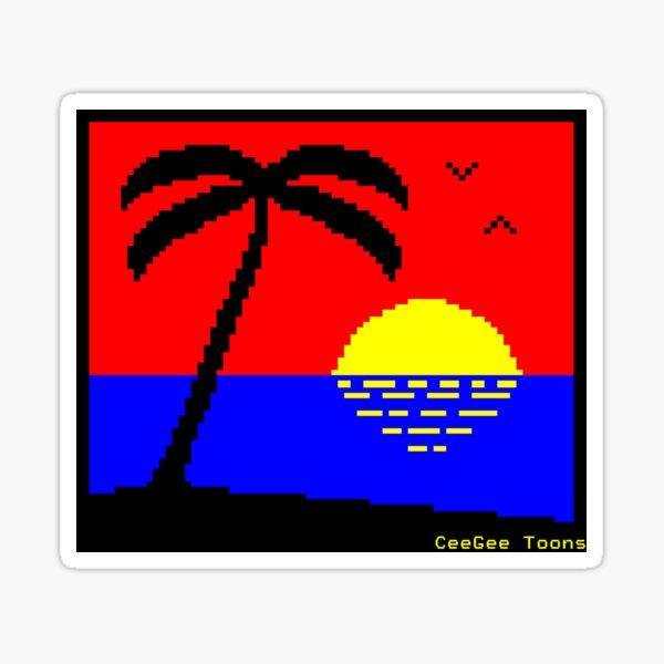 Sunset Beach - Teletext Sticker