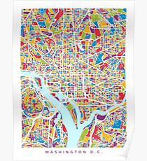 Washington DC Street Map Poster