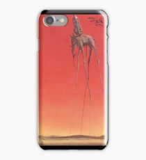 The Elephants by Dali  iPhone Case/Skin