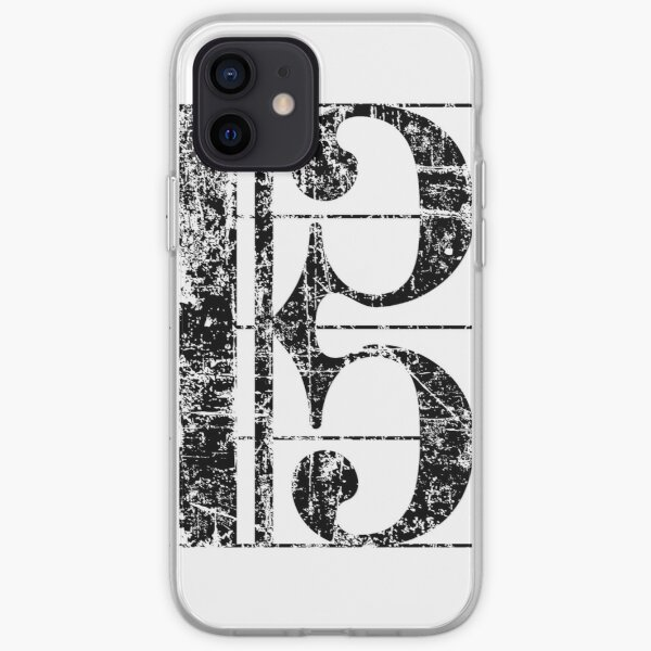 Alto clef (vintage / black) viola iPhone Soft Case